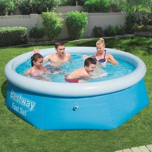Fast Set Zwembad opblaasbaar rond 244x66 cm 57265
