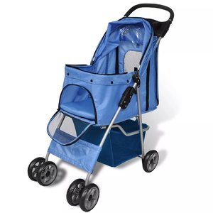 Wandelwagen voor honden 15 kg blauw